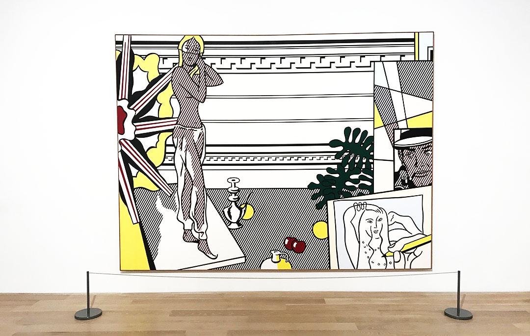 Roy Lichtenstein Artist and Model at ICA
